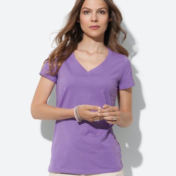 St9310 Dames T Shirt Organic Janet V Neck