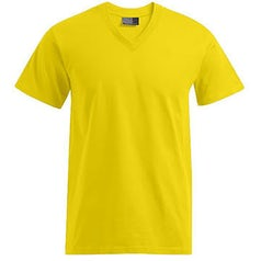 E3025 Heren T Shirt Promodoro Met V Hals Gold Yellow