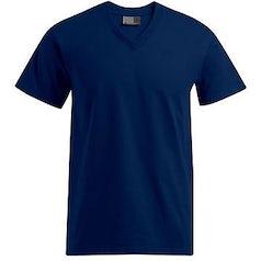 E3025 Heren T Shirt Promodoro Met V Hals Navy
