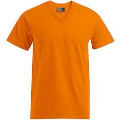E3025 Heren T Shirt Promodoro Met V Hals Oranje