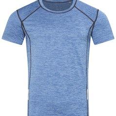 Heren Sport T Shirt Stedman Reflect St8840 Blue Heather