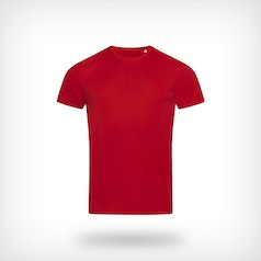 St8000 Heren Sport T Shirt Stedman Crimson Red