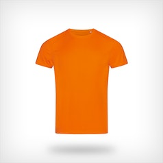 St8000 Heren Sport T Shirt Stedman Cyber Orange