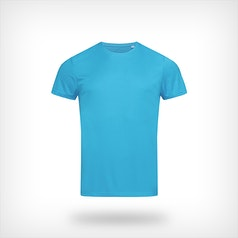 St8000 Heren Sport T Shirt Stedman Hawaii Blue