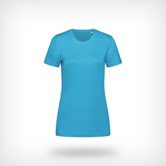 St8100 Dames Sport T Shirt Stedman Hawaii Blue