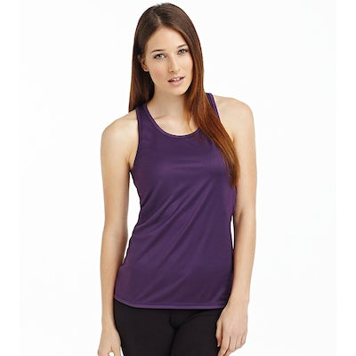 St8110 Sports Top Dames Racerback Deep Berry