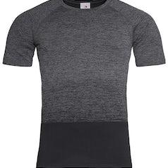 St8810 Heren Sportshirt Stedman Raglan Seamless Flow Dark Grey Transition