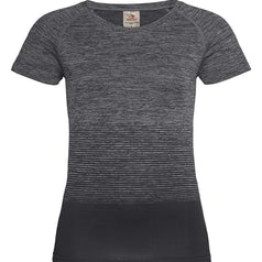 St8910 Dames Sportshirt Stedman Raglan Seamless Flow Dark Grey Transition