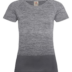 St8910 Dames Sportshirt Stedman Raglan Seamless Flow Light Grey Transition