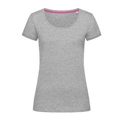 St9130 Dames T Shirt Stedman Megan Crewneck Grey Heather