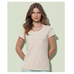 St9310 Dames T Shirt Organic Janet Crewneck Winter White